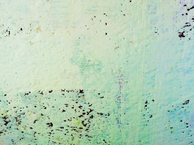老褴褛灰泥膏药墙壁纹理 色的破裂的背景 免版税库存照片
