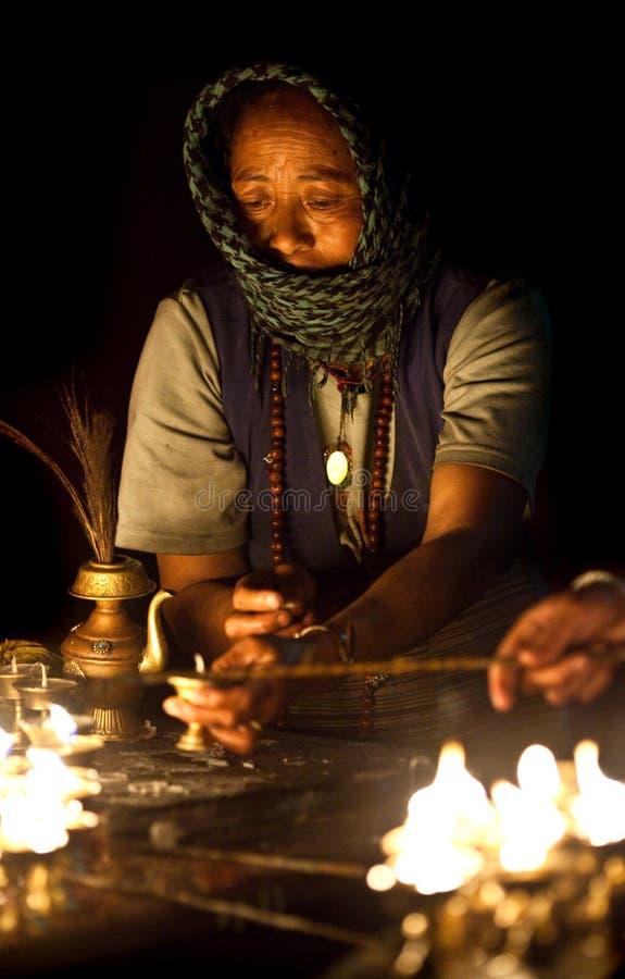 老西藏妇女 库存照片