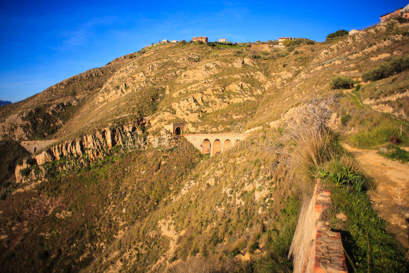 老西西里人的铁路 免版税库存图片
