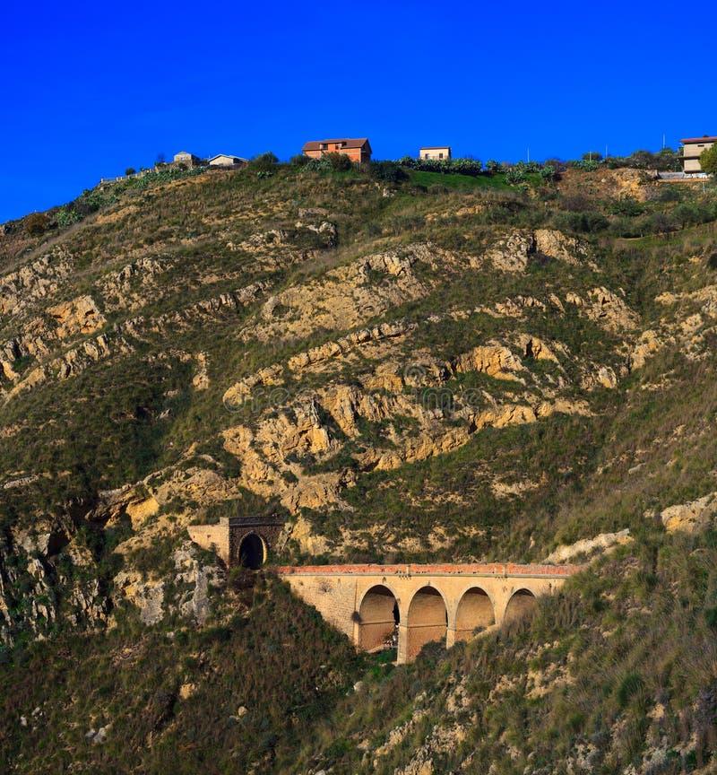 老西西里人的铁路 图库摄影