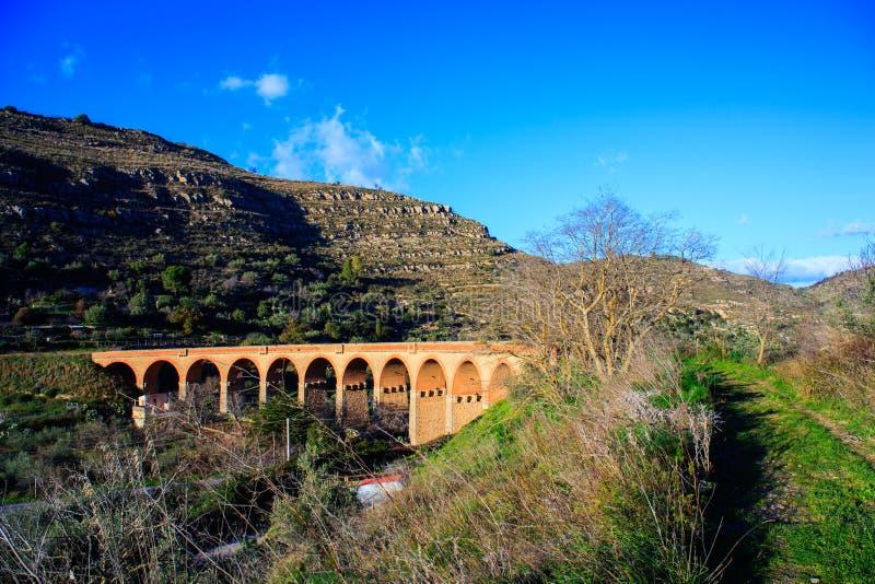 老西西里人的铁路 库存图片