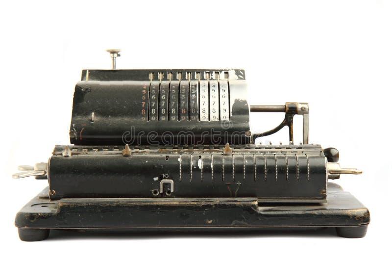 老计算器非常 免版税图库摄影