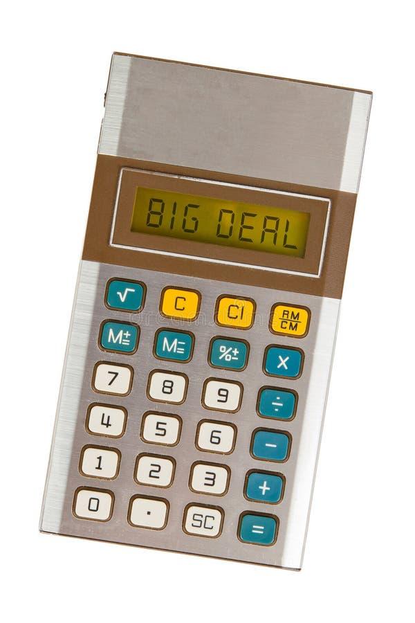 老计算器-重要的事 免版税图库摄影