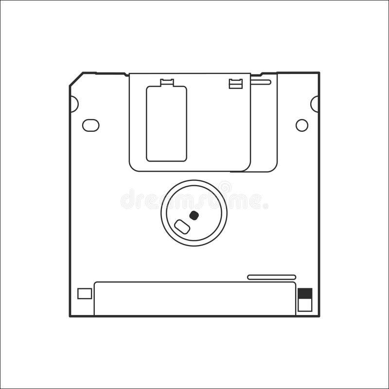 老计算机盘线艺术传染媒介 皇族释放例证