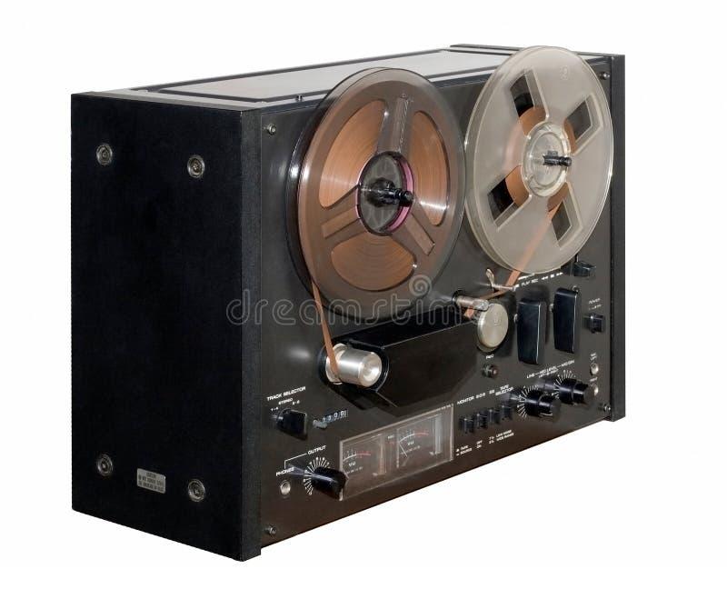 老记录员卷轴磁带 图库摄影