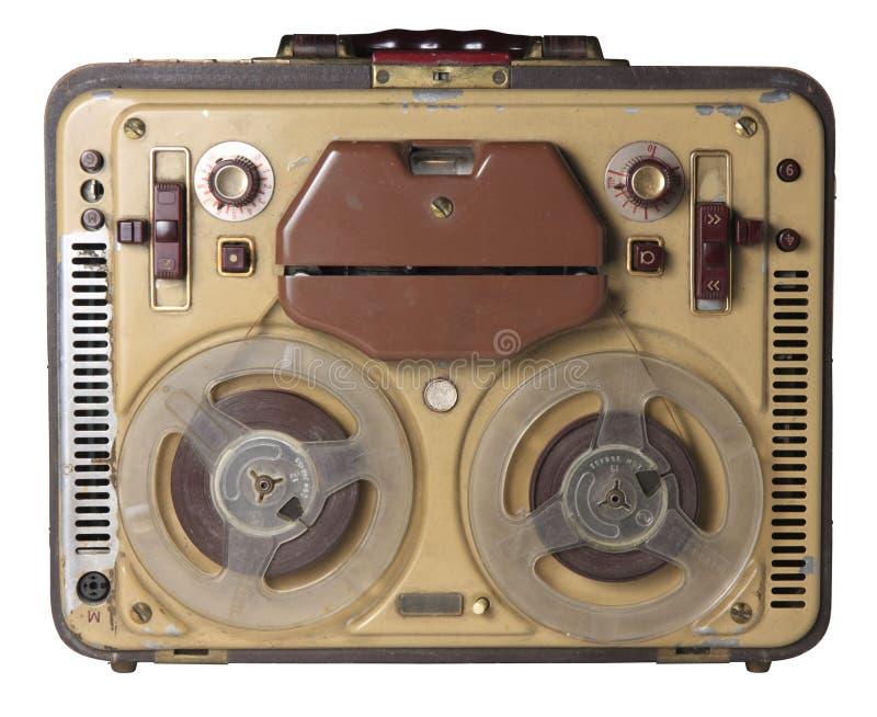 老记录员磁带 免版税图库摄影