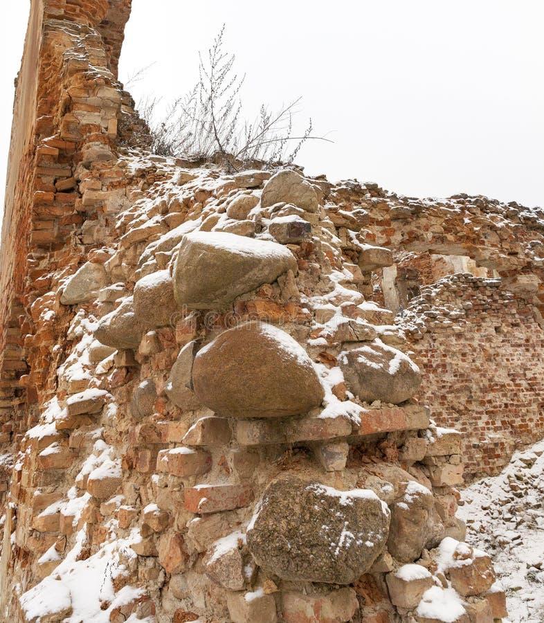 老设防的废墟 库存照片