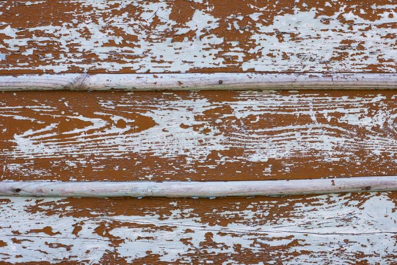 老谷仓木蓝色褐色板条门装饰了纹理背景 库存图片