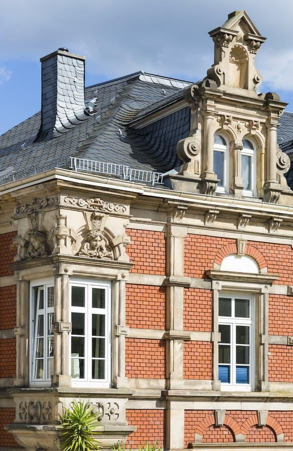 老豪宅在诺伊斯塔特der Weinstrasse,德国 免版税库存照片