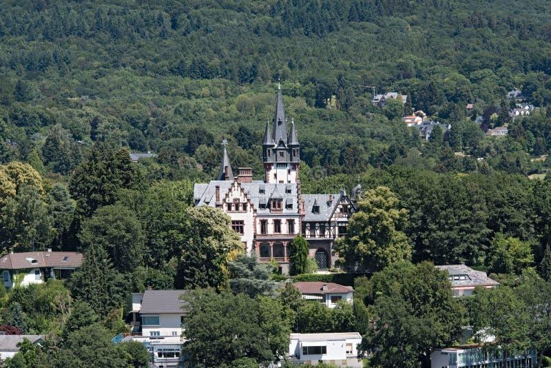 老豪宅在Königstein im Taunus,黑森,德国 库存图片