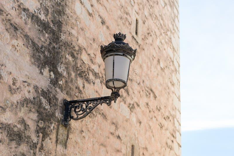 老路灯柱细节 库存照片
