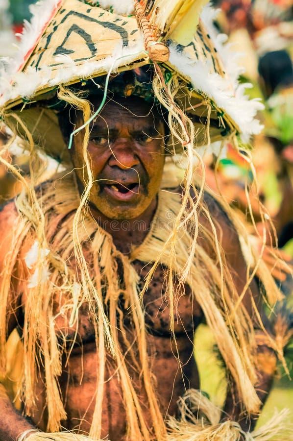老跳舞人在巴布亚新几内亚 库存图片