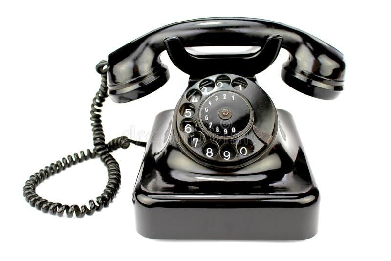 老转台式电话 免版税库存图片