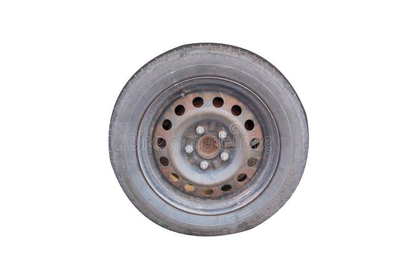 老轮胎和轮子 免版税图库摄影