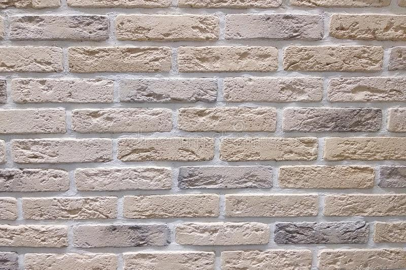 老轻的砖墙纹理背景 免版税库存照片