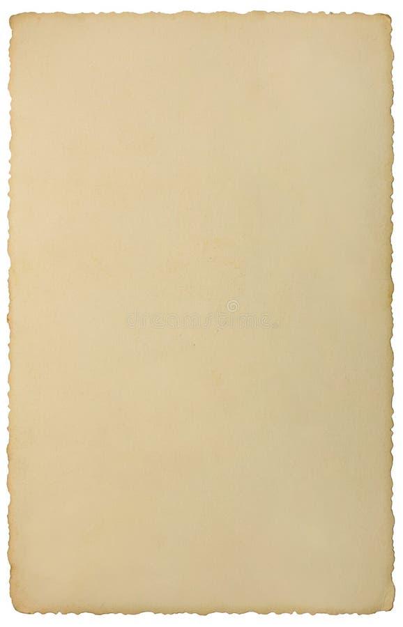 老边缘照片减速火箭的葡萄酒照片背景纹理,被隔绝的立即影片摹写纸卡片扭转了,米黄拷贝空间 库存图片