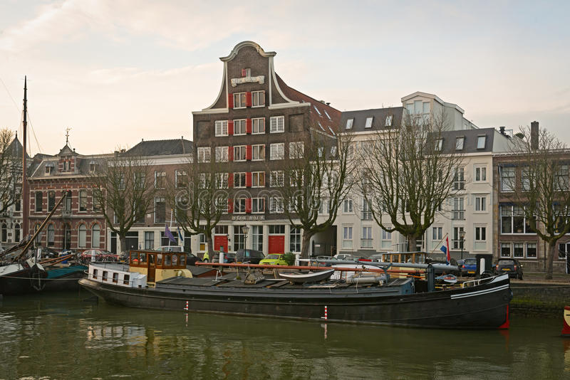 老运河房子和仓库Stokholm 免版税库存照片