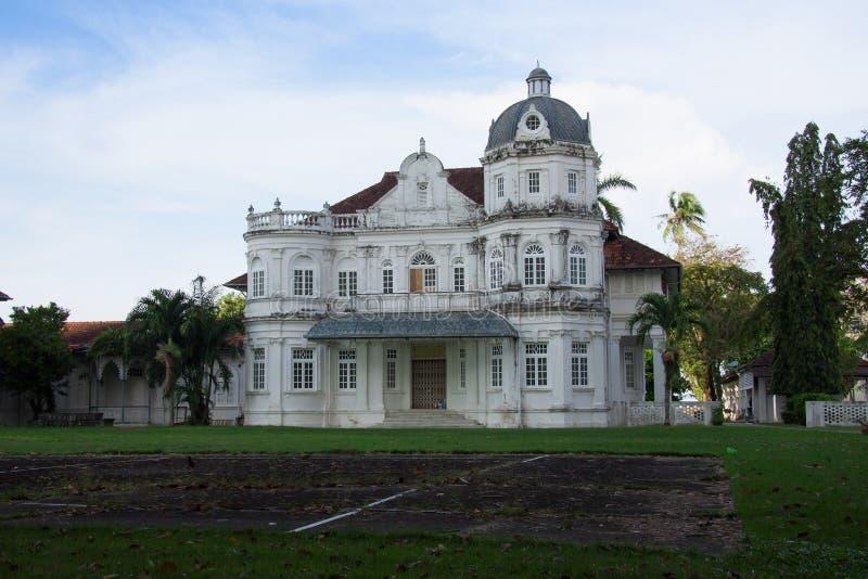 老遗产英国上校Building,乔治市,槟榔岛, Mala 库存照片