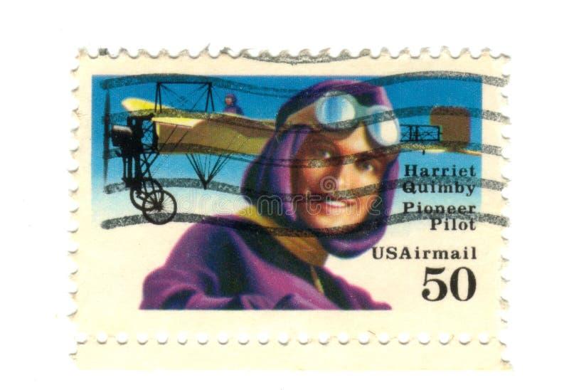 老邮票美国 皇族释放例证