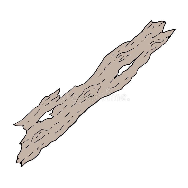 老部分木头 皇族释放例证