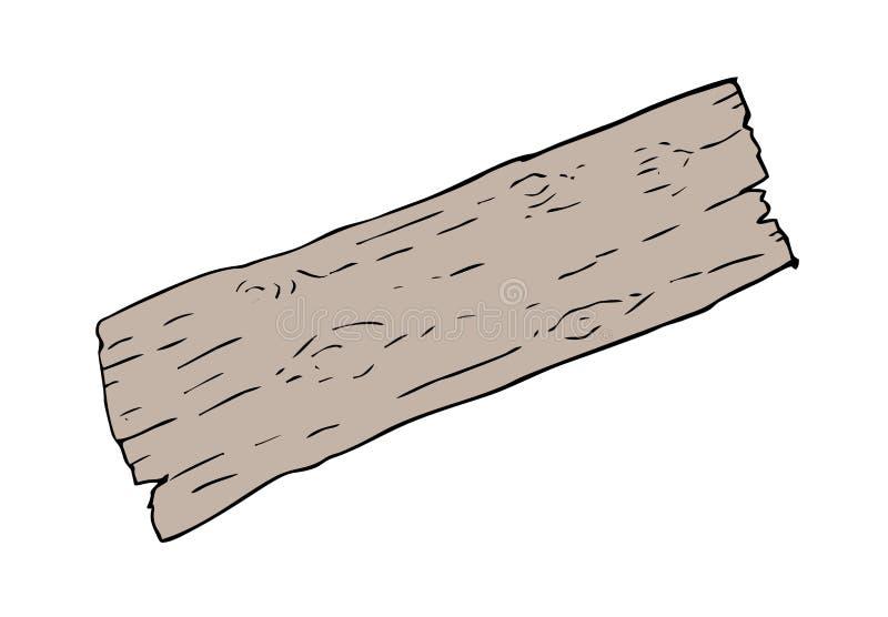 老部分木头 库存例证