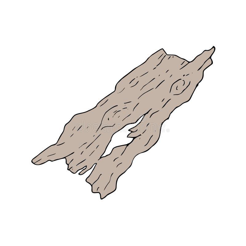 老部分木头 向量例证