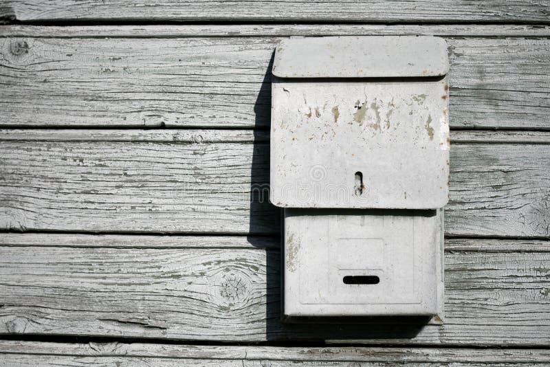 老配件箱邮件 免版税库存照片