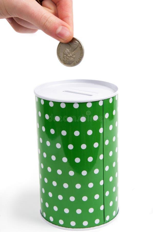 老配件箱货币 免版税图库摄影