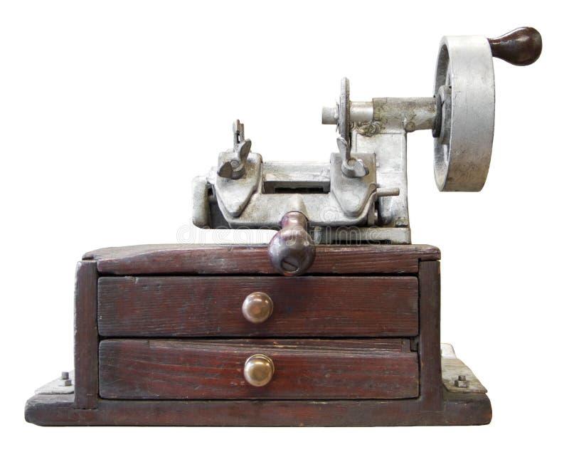 老重复的键设备 库存图片