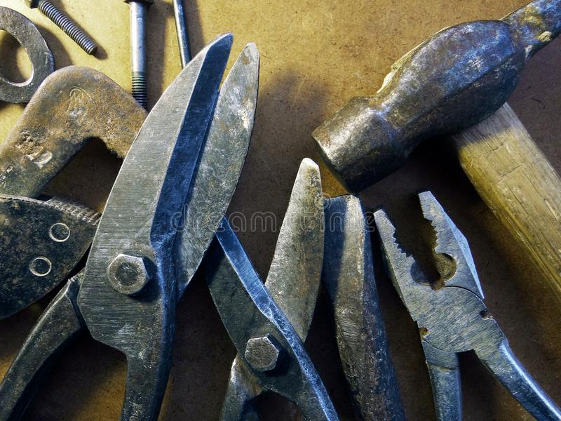 老金属制品用工具加工车间 库存照片