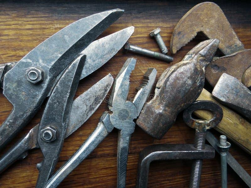 老金属制品用工具加工车间 免版税库存图片