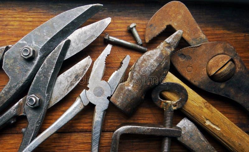 老金属制品用工具加工车间 免版税库存照片