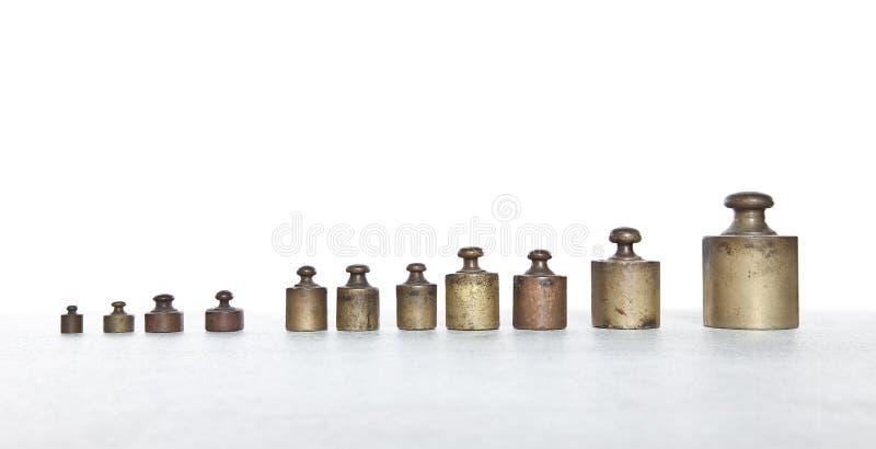 老金属重量 免版税库存照片