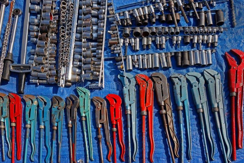 老金属钳子工具 免版税库存照片