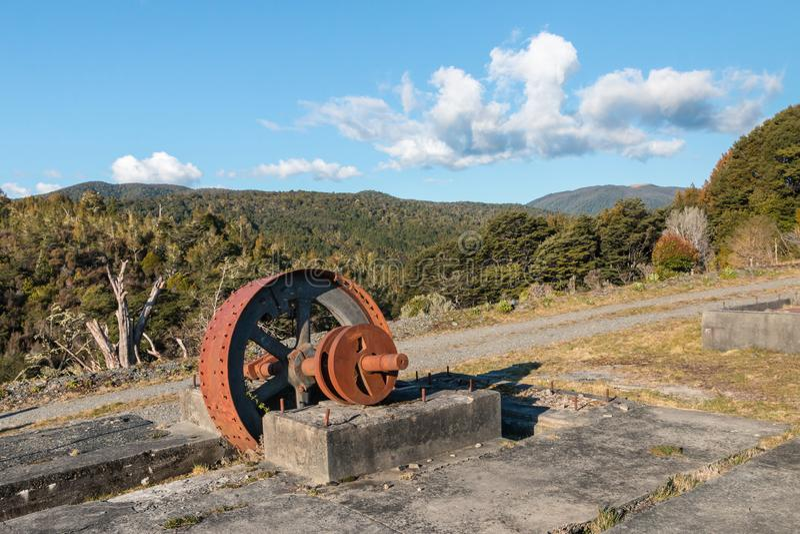 老金矿在Waiuta,西海岸,南岛,新西兰 库存照片