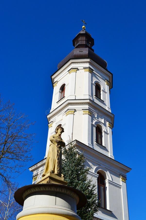 老钟楼在Pinsk 库存照片