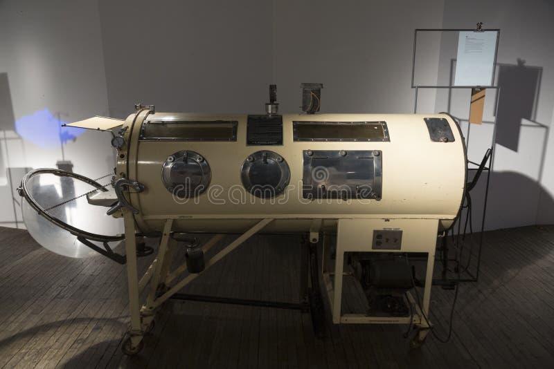 老钢肺在尼古拉・特斯拉技术博物馆在萨格勒布,克罗地亚 库存图片