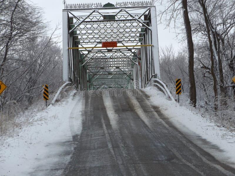 老铁桥梁在西印第安纳 库存图片
