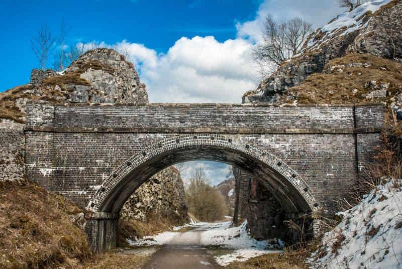 老铁路隧道 免版税库存照片