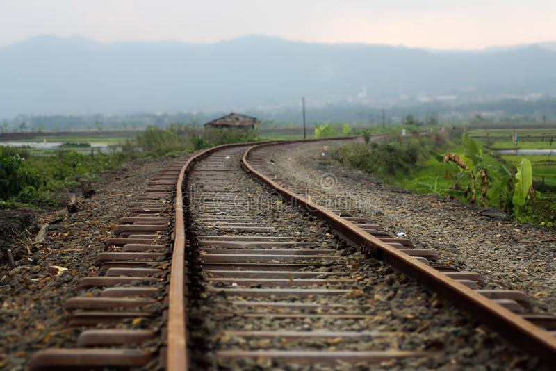 老铁路 免版税库存图片