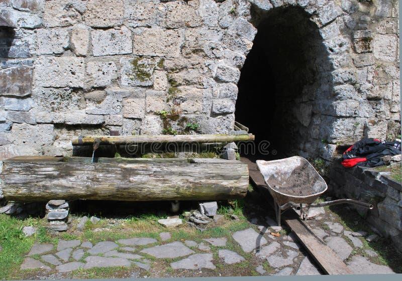 老铜入口最小值 库存照片