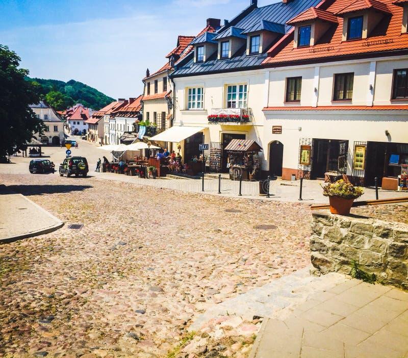 老镇中心在卡齐米日Dolny,波兰 库存图片