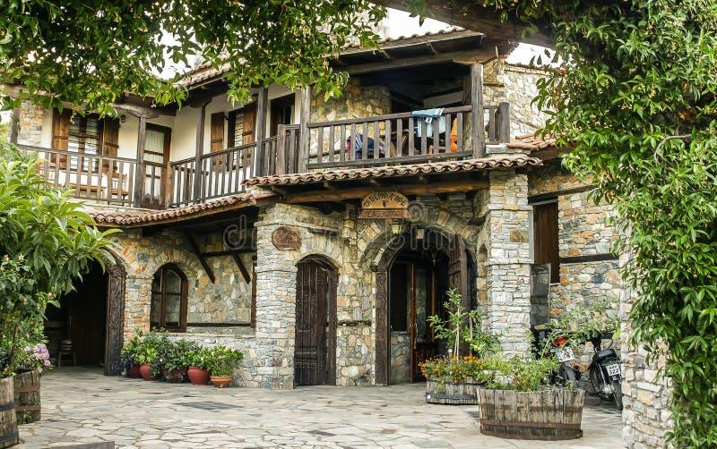 老镇在希腊 库存图片