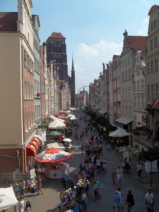老镇在格但斯克-波兰 免版税库存图片