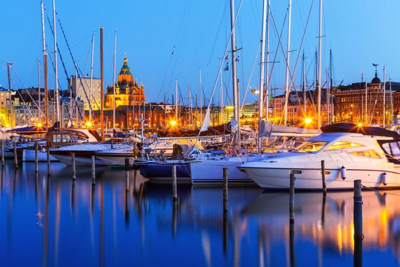 老镇在赫尔辛基,芬兰 库存图片