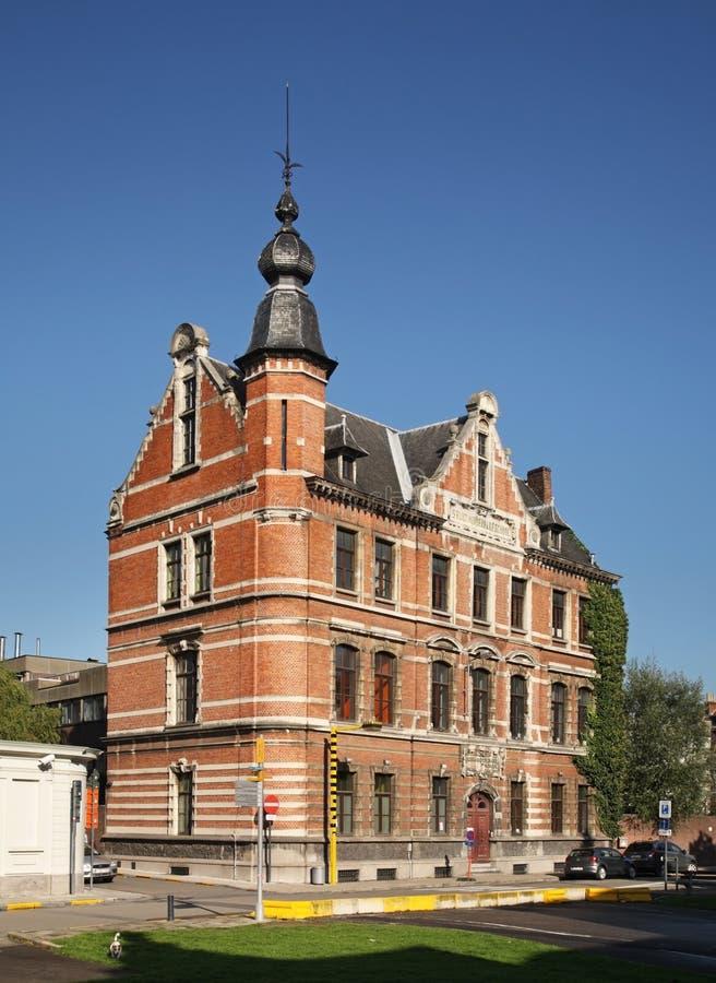 老镇在跟特 富兰德 比利时 免版税库存图片