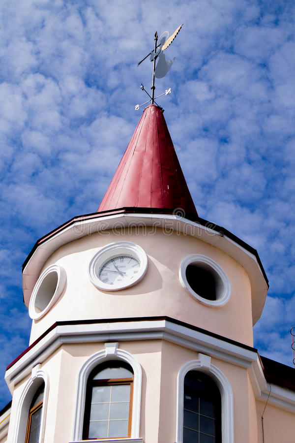 老镇在维堡 免版税库存照片