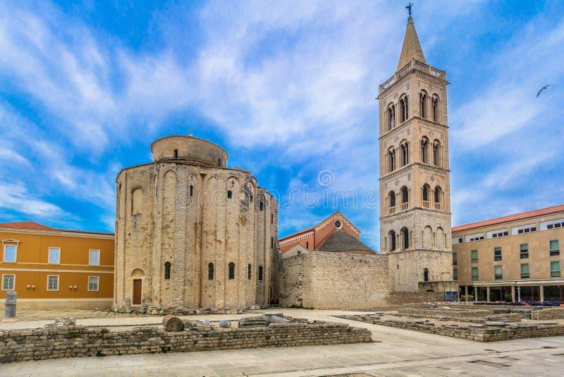 老镇扎达尔在欧洲,克罗地亚 免版税图库摄影