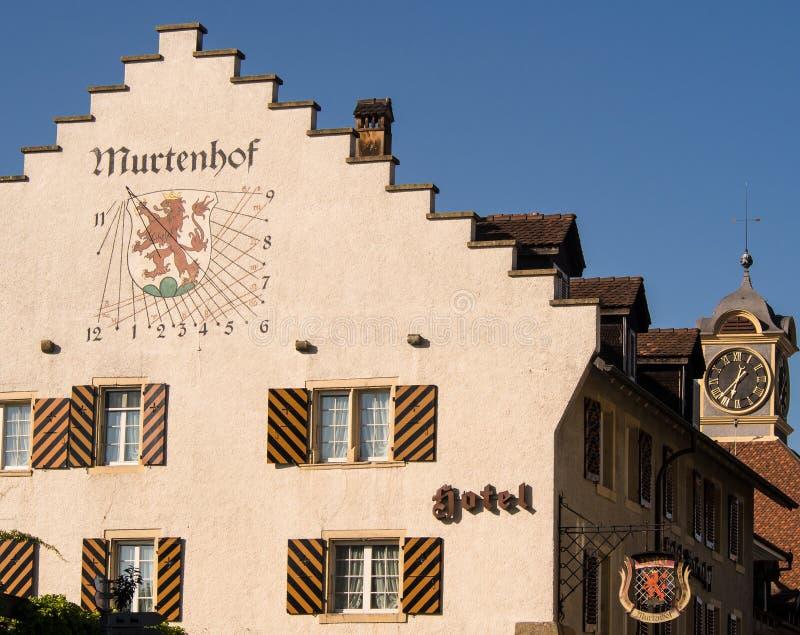 老镇穆尔滕,瑞士 免版税库存图片