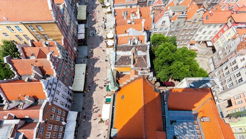 老镇建筑学在格但斯克,波兰 库存照片